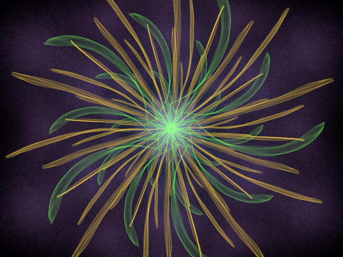 handpainted fractal 136