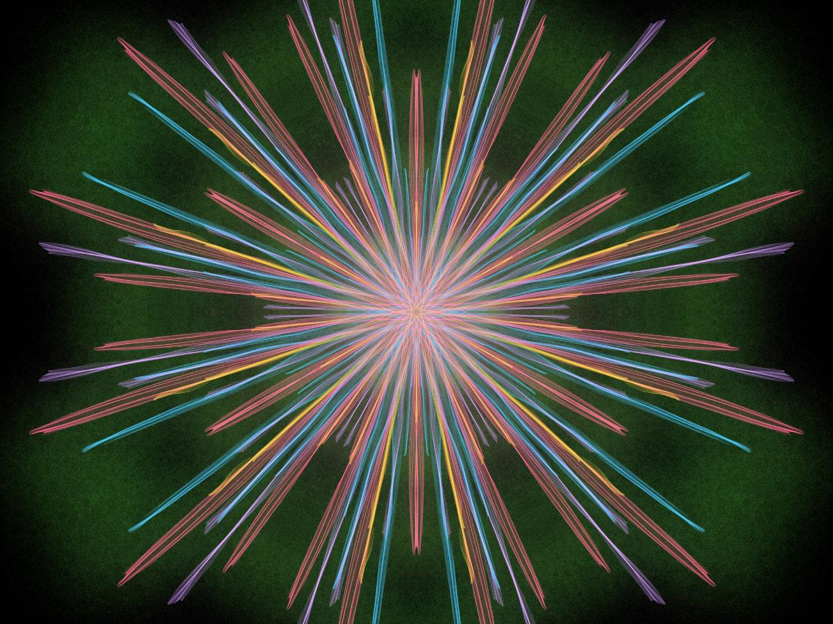 handpainted fractal 137