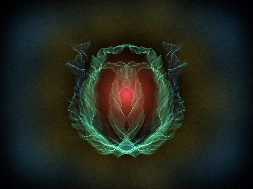 handpainted fractal 139 - Heart of Darkness