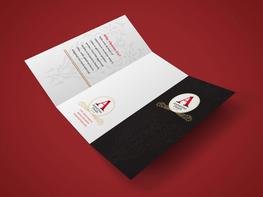 Annarino's Brochure Outside Spread Mockup