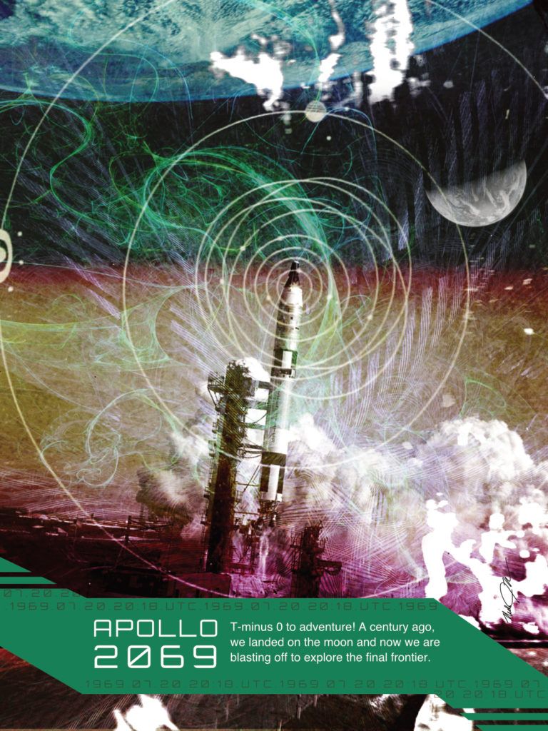 Apollo 2069 Poster The Final Frontier T Minus 0
