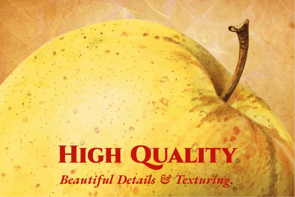 Authentic Vintage Watercolor Apples Vol. 1 Preview 3