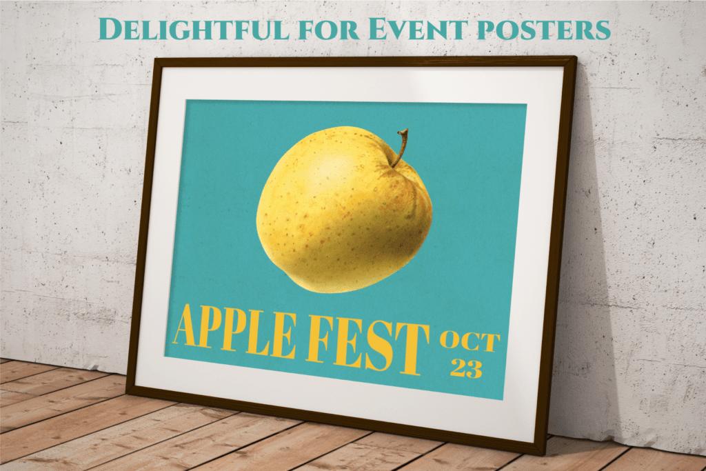 Authentic Vintage Watercolor Apples Vol. 1 Preview 6