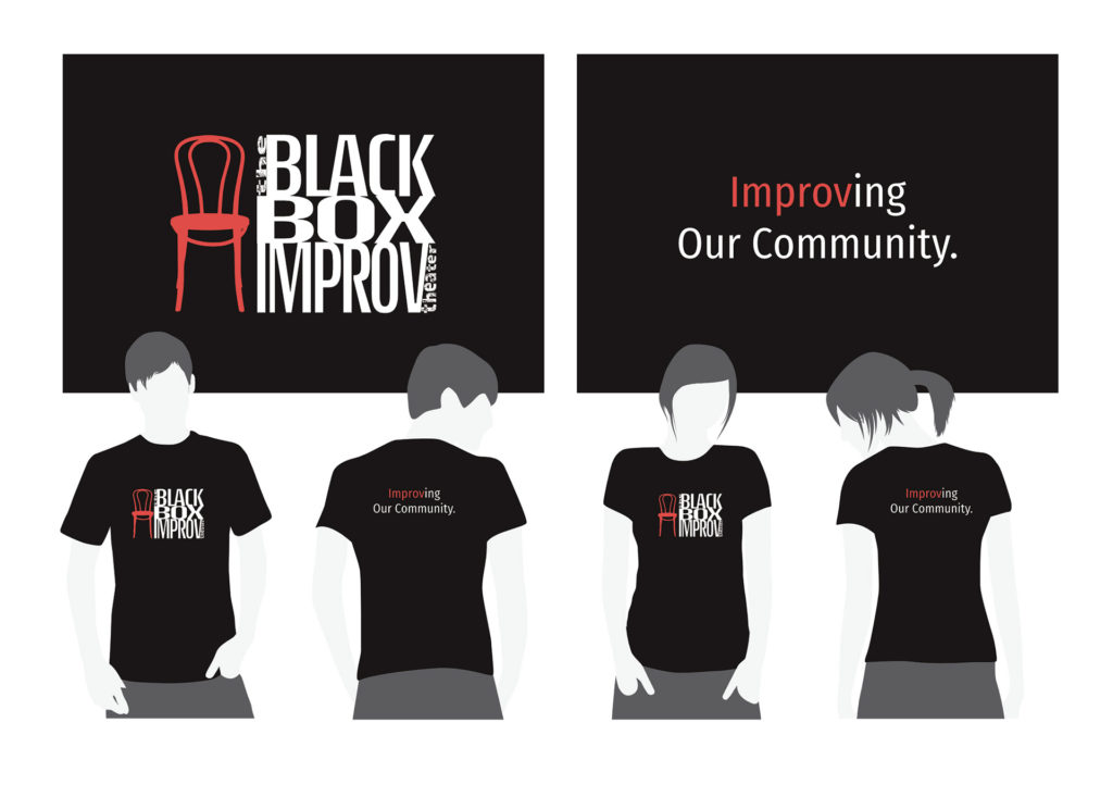 Black Box Improv Theater Community Outreach T Shirt Design 1