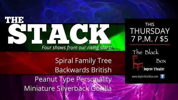 Black Box Improv Theater Signage Promo Cards 1