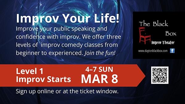 Black Box Improv Theater Signage Promo Cards 7