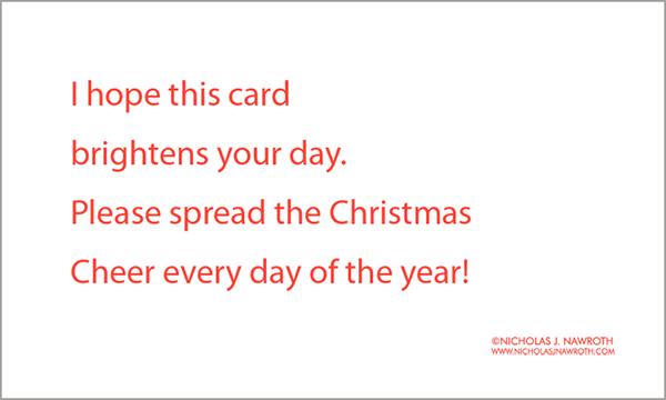 Cute Cards Christmas Back