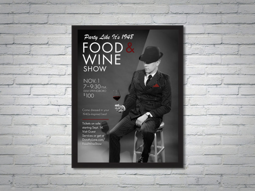 DLM Food Wine Show 20th Anniversary Collateral Poster Man