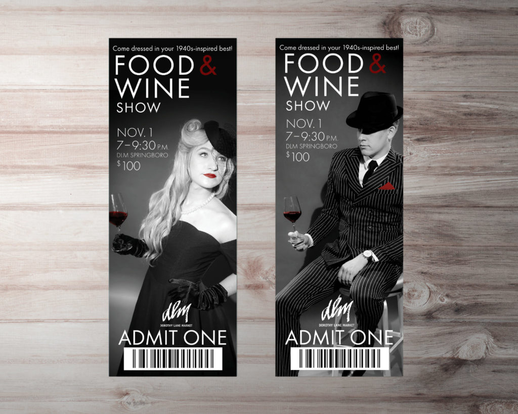 DLM Food Wine Show 20th Anniversary Collateral Tickets