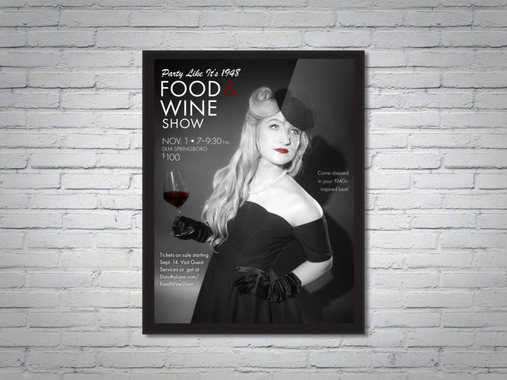Graphic Design - DLM Food Wine Show 20th Anniversary Collateral Woman.