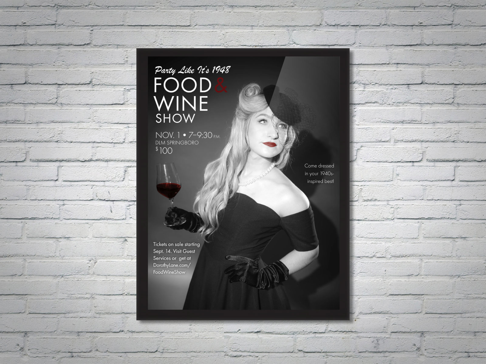 DLM Food Wine Show 20th Anniversary Collateral Woman