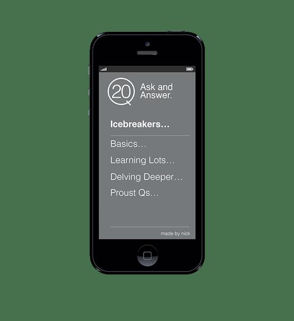 Date Better App Mockup Icebreakers