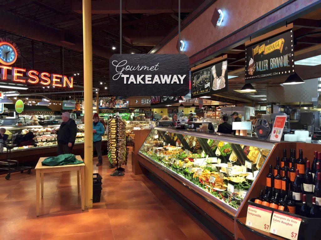 Deli Signage Gourmet Takeaway