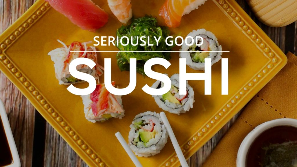 Department Title Cards for TV Sushi