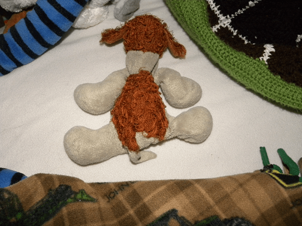 Doggie Stuffed Toy Top View
