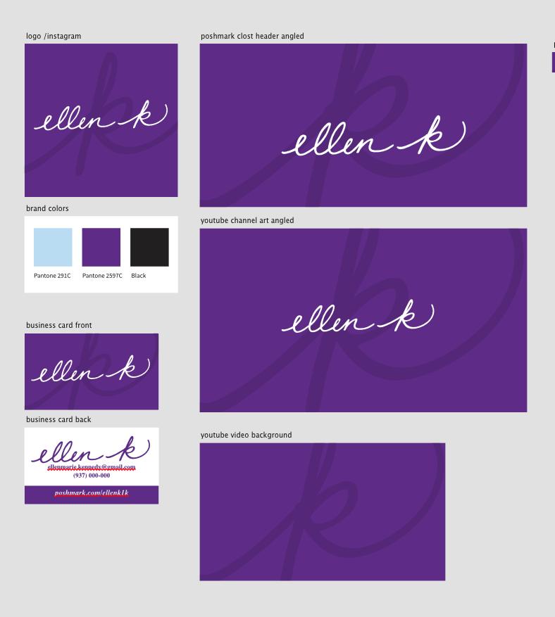 Ellen K Logo Branding Brand Kit
