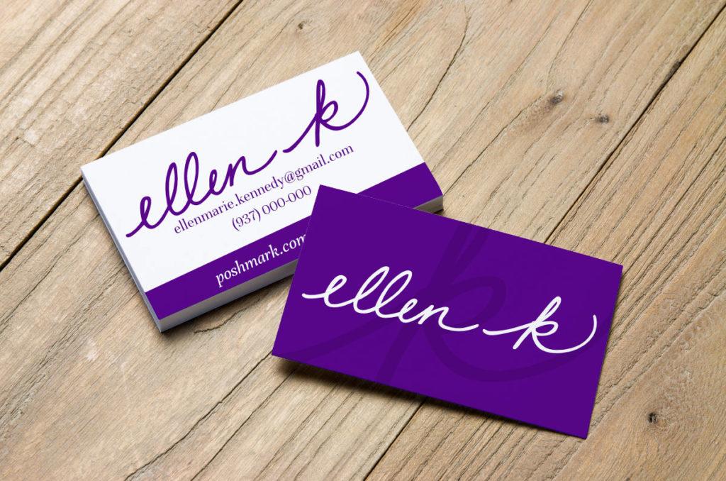 Ellen K Logo Branding Business Cards Mockkup