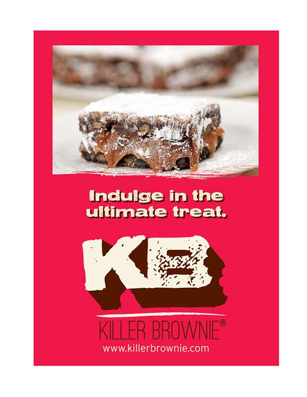 Killer Brownier Logo Redesign 2013 Ad Mockup
