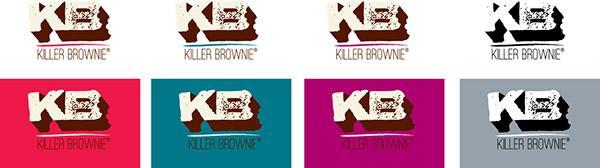 Killer Brownier Logo Redesign Logo Color Studies