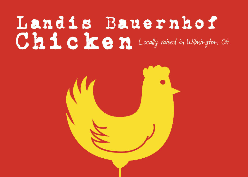 Graphic Design - Landis Bauernhof Chicken Label.
