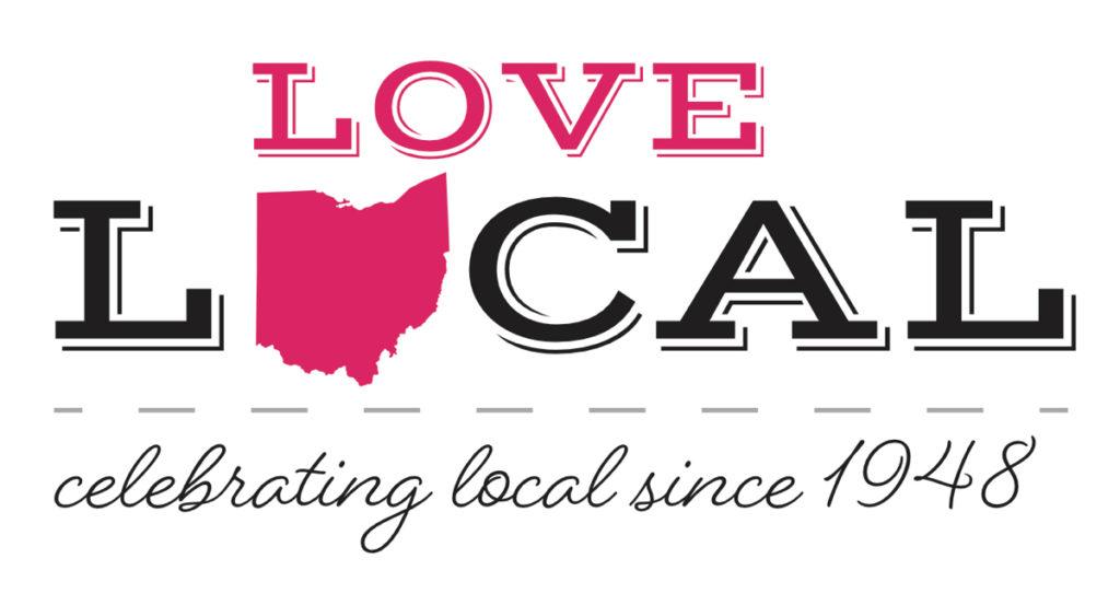 Love Local Logo Red Ohio