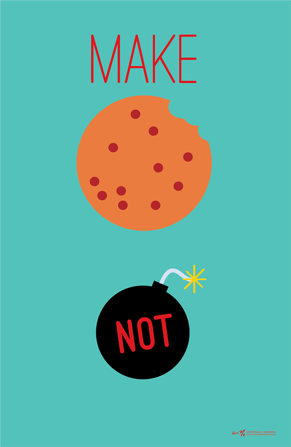 Make Cookies Not Bombs Poster