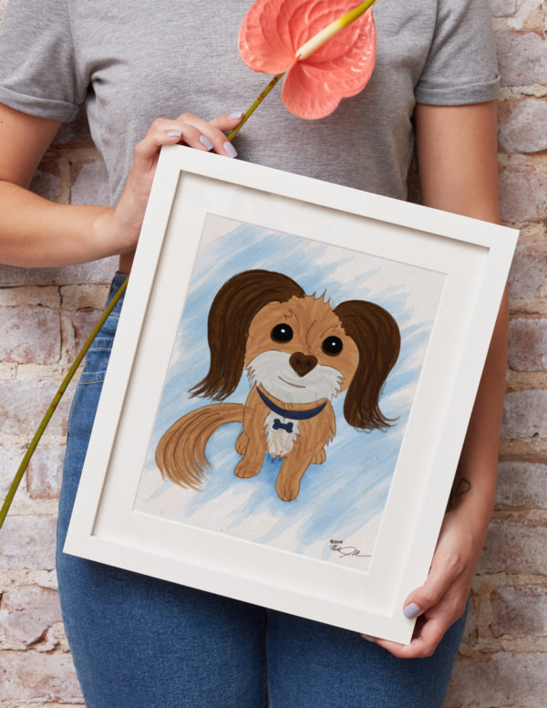 Dog Portrait in Frame Mockup Cropped