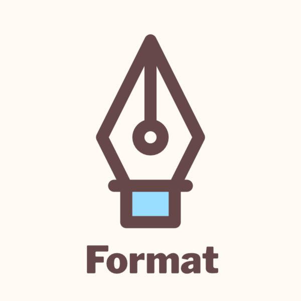 book format 3
