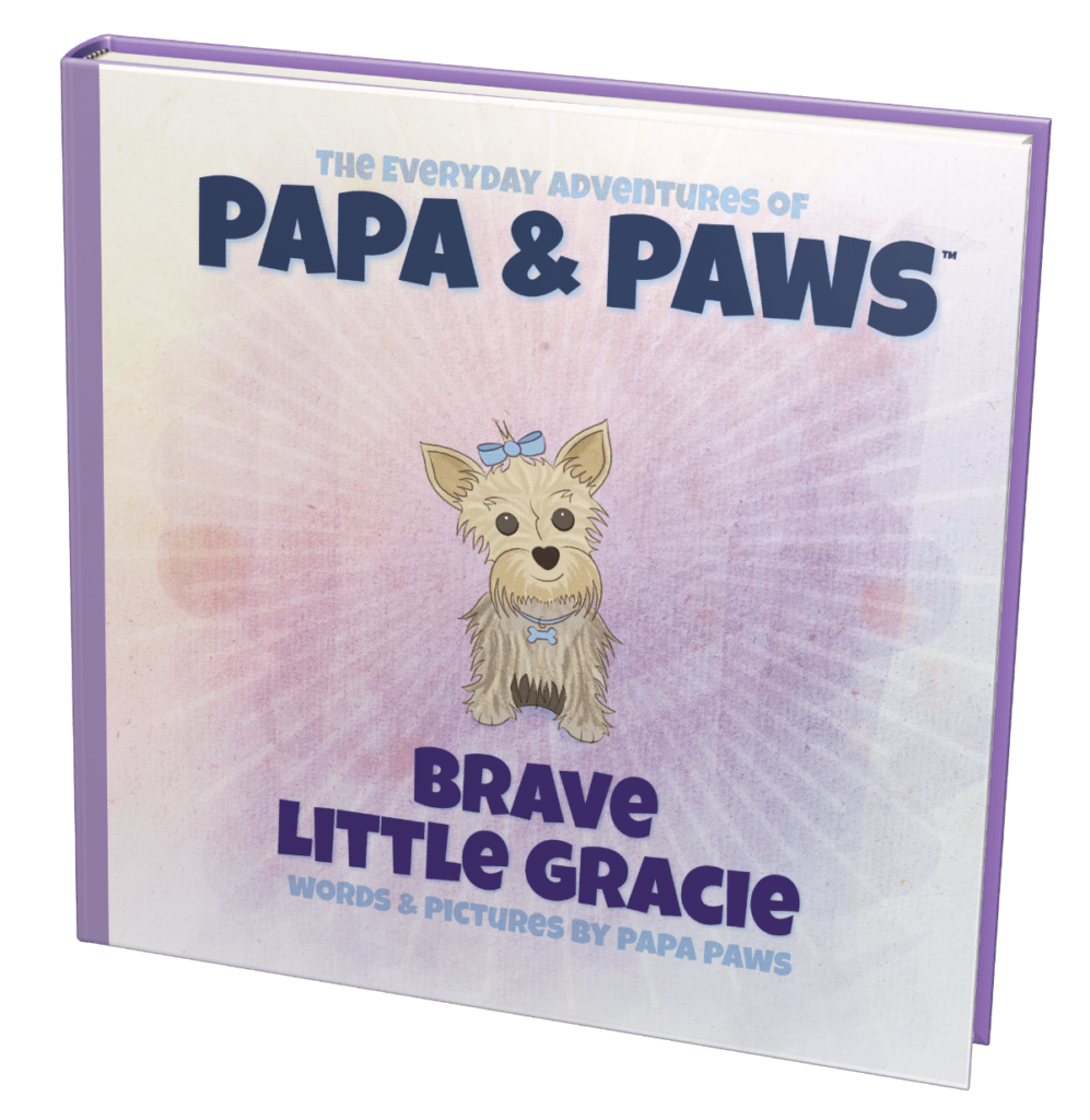 Papa Paws Brave Little Gracie Square Front Angled 1200